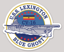 US Navy USS Lexington CV-16 sticker - $9.89
