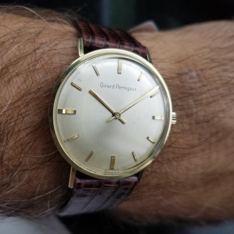 GIRARD-PERREGAUX Gold-Capped Men's Manual Hand-Wind Dress Watch c.1960s MS212 image 10