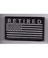 RETIRED BLACK FLAG 2 X 3  EMBROIDERED PATCH WITH HOOK LOOP - $15.33