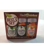 Healing Solutions Best Blends 3 Therapeutic Essential OilsPEPPERMINT OR... - $10.00
