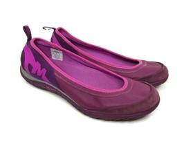Merrell Womens 9 Enlighten Vex Dark Purple Slip-On Ballet Select Grip Flats - £24.18 GBP