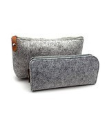 ERCENTURY Pencial Bag Pen Holder Cosmetic Pouch Bag, Felt Pouch Zipper B... - £8.80 GBP