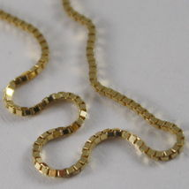 18K YELLOW GOLD CHAIN 1 MM VENETIAN SQUARE LINK 19.68 INCHES, MADE IN ITALY image 4