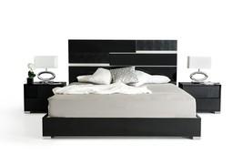 Modrest Ancona Italian Modern Black Eastern King Bed - £651.08 GBP