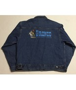 Bronco Denim Jean Jacket L The Best Horse in the Business Cowboy Western... - $19.15