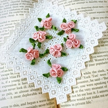 Dusty Pink Roses 20pcs,Mini Craft Flowers,Sewing Decorative,Doll Making,... - $7.95