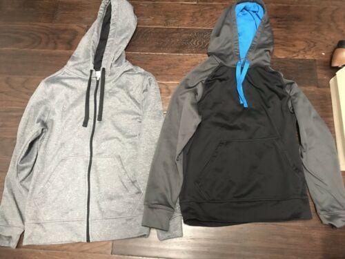 Lot Of 2 C9 Champion Mens Tech Fleece Duo Dry Warm Hooded Sweatshirt Size Small