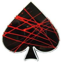New Vintage Enamel Doodle Poker Ace Spade Belt Buckle Gurtelschnalle Boucle de c - $8.39
