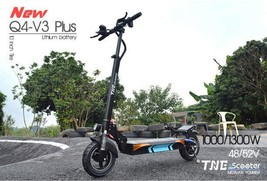Folding Electric Scooter TNE Q4 V3 Plus 1300w 52v 18ah Lithium Battery Hub Motor image 1