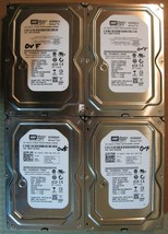 "Lot of 4 Western Digital SATA 3.5"" 320GB Internal Desktop Hard Drive - $46.39"