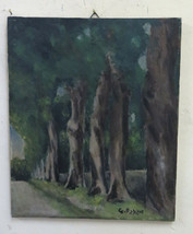 Painting Period oil On Linen landscape Signed Pae Beginning Century BM40 - $228.08