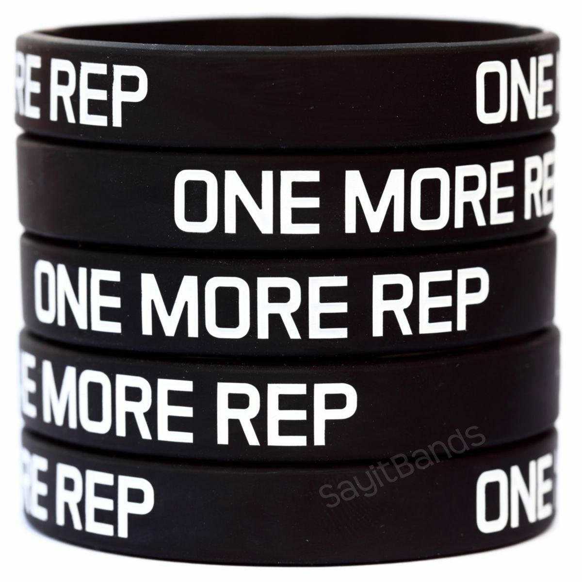 Primary image for ONE MORE REP Wristband Lot Set Silicone Bracelet Wrist Bands for Lifting Workout
