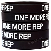 ONE MORE REP Wristband Lot Set Silicone Bracelet Wrist Bands for Lifting... - $1.48+