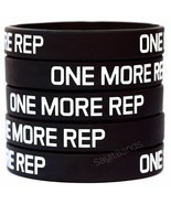 ONE MORE REP Wristband Lot Set Silicone Bracelet Wrist Bands for Lifting... - £1.08 GBP+