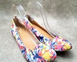Audrey Brooke Womens Newport Sz 9.5 M Multicolor Textile Slip On Ballet Flats