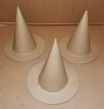 """Halloween Witches Hats Paper Board 3 Each 6' x 6 1/2"""" Ashland 170Q - $9.49"""