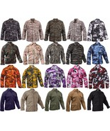 Military BDU Shirt Tactical Uniform Army Coat Camouflage Army Fatigues S... - $27.99+