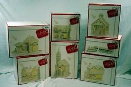 Lenox 2019 Lighted Christmas Village Set Of 7 Buildings NIB - $450.00