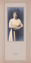 Verna Mae Umbershine (Little) Cabinet Photo Lincoln Academy ME 1913 Class - $17.50