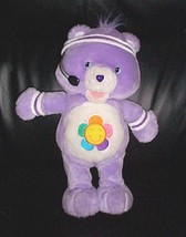 "CARE BEARS Lavender Plush 14"" Exercising Singing Sound & Action Harmony ... - $7.49"