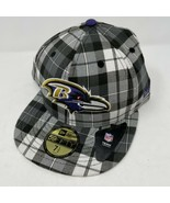Baltimore Ravens New Era 59Fifty Fitted Baseball Hat Size 7 1/2 - $19.79