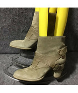 Vintage Christian Dior Leather Buckle Lace Up Booties Size US9.5-10 HTF - $346.50