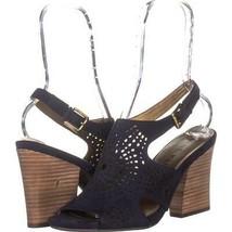 AK Anne Klein Sport Briella Slingback Sandals 775, Navy, 9.5 US - $29.75