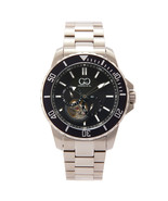 Curtis & Co Big Time Royale 45mm Men's Automatic Watch Silver Case/Black... - $995.00