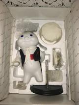 "Pillsbury Dough Boy Porcelain Doll ""At Your Service"" Danbury Mint 1999 In Box - $74.25"