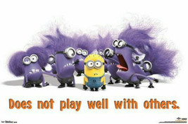 DESPICABLE ME 2 EVIL MINIONS POSTER w/ Poster Hanger - NEW - $10.39