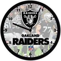 "Oakland Raiders LOGO Homemade 8"" NFL Wall Clock w/ Battery Included - $23.97"
