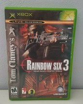 Tom Clancys Rainbow Six 3 Squad Xbox Video Game Rated Mature 2003  - $6.43