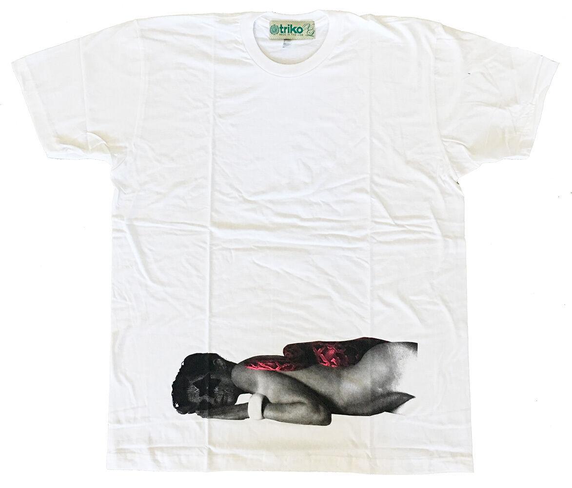 Triko Mens White Two 2 Snakes Snake Woman USA Made T-Shirt NWT