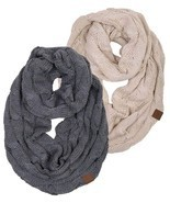 Matching Scarf Bundle Beanies Ribbed Winter Stay Warm Cable Knit Machine... - $52.08 CAD