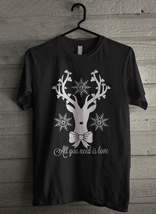 Reindeer All you need is love - Custom Men's T-Shirt (1857) - $19.13+