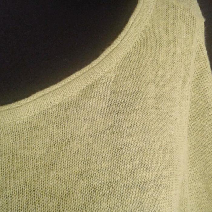 Eileen Fisher sweater Small Green hi-low Organic Linen