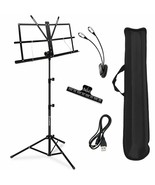 New KASONIC Professional MUSIC STAND Collapsible Portable Sheet Clip Hol... - $18.69