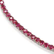 Bracelet Tennis Argent 925, Zirconia Cubique Rouges 3 mm, Longueur 18 CM image 4