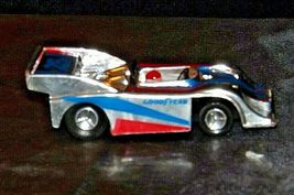 Silver and blue and red #25 Racecar with Driver AA19-1508 Vintage image 3