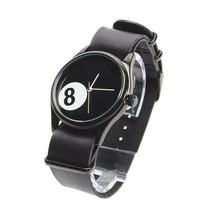 Cheapo CHPO cheapo 8 Ball Pool Black Leather Strap 14227SS Analog Wrist Watch image 2