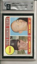 1969 Topps #544 Tigers Rookies Kilkenny /  Woods RC Rookie Compare to PS... - $12.80