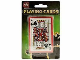 Plastic Coated Poker Size Playing Cards - $5.87