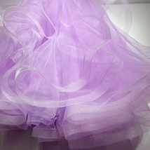 Layered Tulle Skirt Princess Outfit Plus Size Wedding Outfit Purple Tiered Skirt image 4