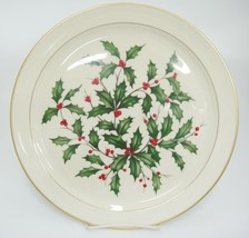 """Lenox Holiday Presidential Special Round Platter 12.75"""" Christmas Holly ... - $74.24"""
