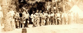 Vintage 1920's Military 3rd Engineers Photo Soldiers Line Tropical Summe... - $28.47