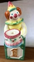 Vintage Avon Ceramic Clown & Block Year to Year Birthday Candle ages 1-4 Holder - $25.00