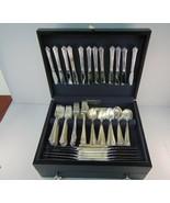 Vintage Heirloom Sterling Silver Damask Rose Flatware Set 179pcs 16.5lbs  - $14,404.50