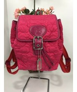Coach Backpack Bag Limited Edition Jack Russell Quilted  5164 Fuchsia Pi... - $79.19