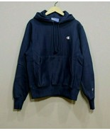 Champion Men's  Reverse Weave Pullover Hoodie NEW AUTHENTIC Navy GF68 Y0... - $48.49