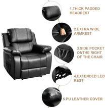 Massage Recliner Sofa Wingback Chair Home Theater Seating Stretch Sofa R... - $537.11